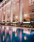 SINGAPORE, Asia, exterior of Fullerton Hotel with swimming pool