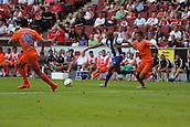 01.08.2015. Cologne, Germany. Pre Season Tournament. Colonia Cup. Valencia CF versus FC Porto.  Algerian international, Brahimi on the attack.