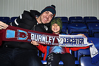 Burnley Fans at the start of todays match<br /> <br /> Photographer Rachel Holborn/CameraSport<br /> <br /> The Premier League - Saturday 10th November 2018 - Leicester City v Burnley - King Power Stadium - Leicester<br /> <br /> World Copyright &copy; 2018 CameraSport. All rights reserved. 43 Linden Ave. Countesthorpe. Leicester. England. LE8 5PG - Tel: +44 (0) 116 277 4147 - admin@camerasport.com - www.camerasport.com