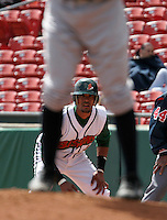 Buffalo Bisons Franklin Gutierrez during an International League game at Dunn Tire Park on April 17, 2006 in Buffalo, New York.  (Mike Janes/Four Seam Images)