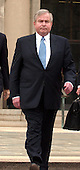 """Former National Security Advisor Samuel """"Sandy"""" Berger departs United States District Court in Washington, D.C. on April 1, 2005 after pleading guilty in the """"Socks Docs"""" case.  Berger passed away on December 2, 2015.<br /> Credit: Ron Sachs / CNP<br /> <br /> (RESTRICTION: NO New York or New Jersey Newspapers or newspapers within a 75 mile radius of New York City)<br /> <br /> (RESTRICTION: NO New York or New Jersey Newspapers or newspapers within a 75 mile radius of New York City)"""