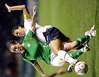 US midfielder Shannon Boxx (7) slide tackles the ball away from an Irish player.  The US Women's National Team defeated Ireland 2-0 at Toyota Park in Bridgeview, IL on September 20, 2008.  Photo by Tracy Allen/isiphotos.com