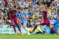 Davy Propper of Brighton & Hove Albion (24) In action  during the EPL - Premier League match between Brighton and Hove Albion and Manchester City at the American Express Community Stadium, Brighton and Hove, England on 12 August 2017. Photo by Edward Thomas / PRiME Media Images.