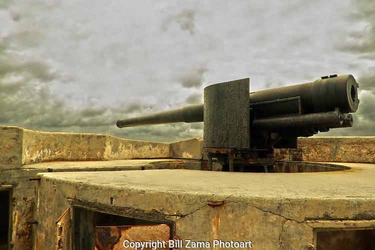 Rampart gun at the Royal Navy Dockyard in Bermuda