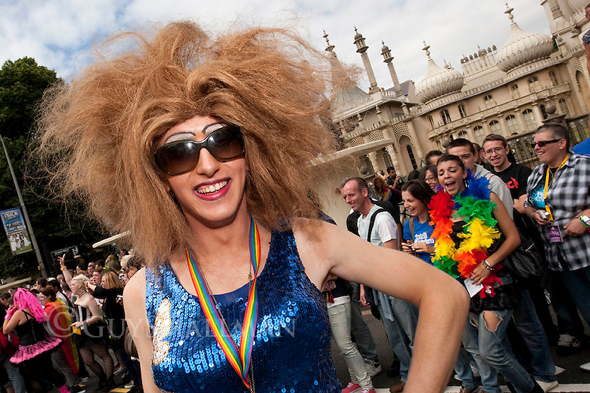 The annual Gay Pride parade makes its way through central Brighton to a party in Preston Park.