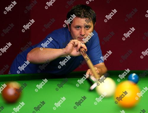 2009-05-26 / Snooker / Mario Geudens werd Belgisch kampioen snooker..Foto: Maarten Straetemans (SMB)
