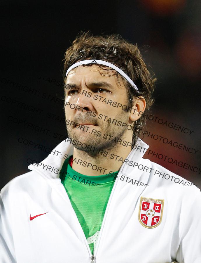 Fudbal Soccer<br /> World Cup 2014 qualifiers match<br /> Serbia v Macedonia<br /> Vladimir Stojkovic<br /> Jagodina, 15.10.2013.<br /> foto: Srdjan Stevanovic/Starsportphoto &copy;