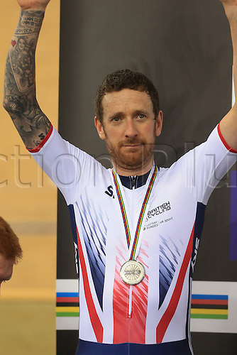 03.03.2016. Lee Valley Velo Centre, London England. UCI Track Cycling World Championships Mens Team Pursuit final.  Team  Great Britain<br />