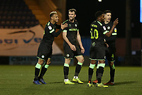 Carl Winchester of Forest Green Rovers scores the second goal for his team and celebrates with his team mates during Colchester United vs Forest Green Rovers, Sky Bet EFL League 2 Football at the JobServe Community Stadium on 12th March 2019