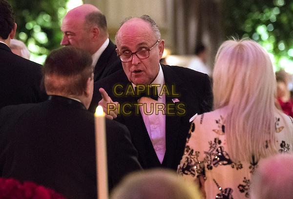 Former New York City Mayor Rudy Giuliani attends the Chairman's Global Dinner with President-Elect Donald Trump and Vice President-Elect Gov. Mike Pence (R-IN), at the Andrew W. Mellon Auditorium in Washington, D.C. on January 17, 2017. The invitation only black-tie event is a chance for Trump to introduce himself and members of his cabinet to foreign diplomats.  <br /> Credit: Kevin Dietsch / Pool via CNP /MediaPunch<br /> CAP/MPI/RS<br /> &copy;RS/MPI/Capital Pictures