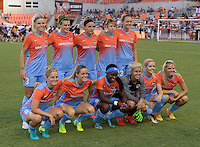 Houston, TX - Saturday July 16, 2016: Houston Dash Starting XI prior to a regular season National Women's Soccer League (NWSL) match between the Houston Dash and the Portland Thorns FC at BBVA Compass Stadium.