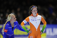 SCHAATSEN: HEERENVEEN: Thialf, KPN NK Sprint, 30-12-11, Miranda Dekker, Antoinette de Jong, ©foto: Martin de Jong.