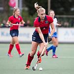 UTRECHT - Lisanne de Lange (Laren)   tijdens de hockey hoofdklasse competitiewedstrijd dames:  Kampong-Laren . COPYRIGHT KOEN SUYK
