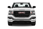 Car photography straight front view of a 2016 GMC Sierra-1500 2WD-Regular-Cab-Long-Box 2 Door Pick-up Front View