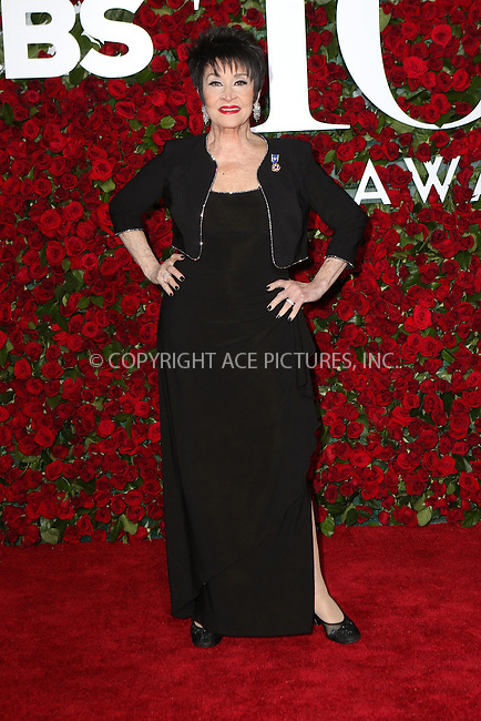 WWW.ACEPIXS.COM<br /> <br /> June 12 2016, New York City<br /> <br /> Chita Rivera arriving at the 70th Annual Tony Awards at The Beacon Theatre on June 12, 2016 in New York City.<br /> <br /> By Line: Nancy Rivera/ACE Pictures<br /> <br /> <br /> ACE Pictures, Inc.<br /> tel: 646 769 0430<br /> Email: info@acepixs.com<br /> www.acepixs.com