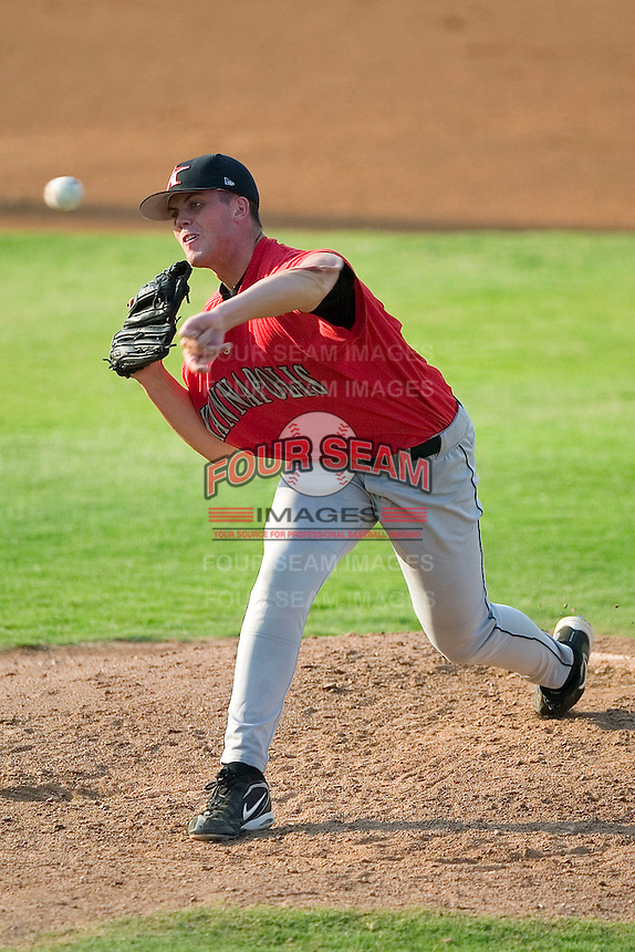 Kannapolis Intimidators starting pitcher Clayton Richard fires the ball to the plate versus the Hickory Crawdads at L.P. Frans Stadium in Hickory, NC, Thursday, June 29, 2006.