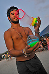"Participant at ""Mid Burn"", the Israeli ""Burning Man Festival"" held at ""Habonim"" beach north of Israel October 4-6, 2012."