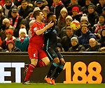 Jon Flanagan of Liverpool tussles with Raheem Sterling of Manchester City  - English Premier League - Liverpool vs Manchester City - Anfield Stadium - Liverpool - England - 3rd March 2016 - Picture Simon Bellis/Sportimage