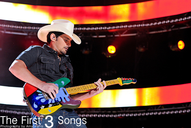 Brad Paisley performs at LP Field during the 2012 CMA Music Festival on June 07, 2011 in Nashville, Tennessee.