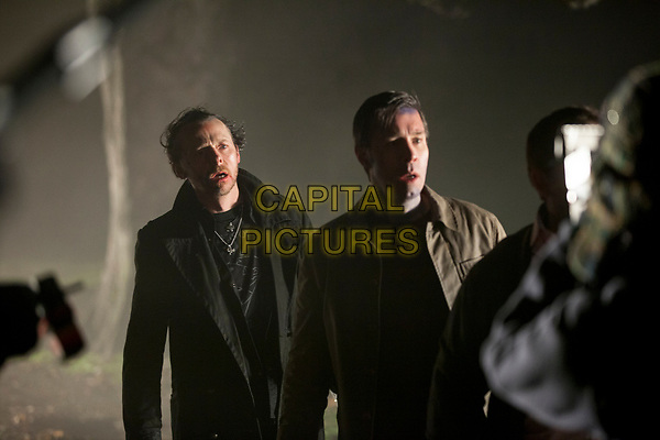 The World's End (2013) <br /> Simon Pegg &amp; Paddy Considine<br /> *Filmstill - Editorial Use Only*<br /> CAP/KFS<br /> Image supplied by Capital Pictures