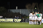 03 December 2010: Stanford's starters huddle before the game. The Stanford University Cardinal defeated the Boston College Eagles 2-0 at WakeMed Stadium in Cary, North Carolina in an NCAA Women's College Cup semifinal game.