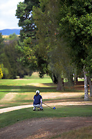 Juliana Hung looks down the 15th. Day two of the Jennian Homes Charles Tour / Brian Green Property Group New Zealand Super 6s at Manawatu Golf Club in Palmerston North, New Zealand on Friday, 6 March 2020. Photo: Dave Lintott / lintottphoto.co.nz
