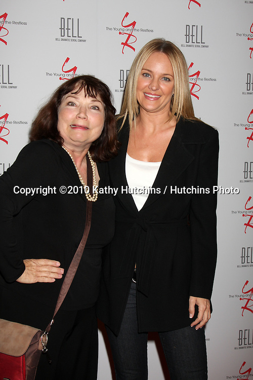 Karen Hensel & Sharon Case.arrivng at The Young & The Restless 37th Anniversary Dinner.Via Allorro.Beverly Hills, CA.March 9, 2010.©2010 Kathy Hutchins / Hutchins Photo....