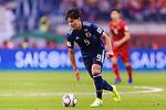 Minamino Takumi of Japan in action during the AFC Asian Cup UAE 2019 Quarter Finals match between Vietnam (VIE) and Japan (JPN) at Al Maktoum Stadium on 24 January 2018 in Dubai, United Arab Emirates. Photo by Marcio Rodrigo Machado / Power Sport Images