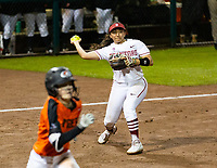 Stanford, California - February 14, 2019: Stanford Softball wins 6-1 over Pacific at Smith Family Stadium in Stanford, California.