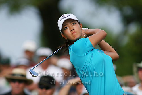 January 13, 2005; Honolulu, HI, USA;  15 year old amateur Michelle Wie tees off during the 1st round of the PGA Sony Open golf tournament held at Waialae Country Club.  Wie shot a 5 over par 75 for the day.<br />Mandatory Credit: Photo by Darrell Miho <br />&copy; Copyright Darrell Miho