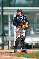 New York Yankees Radley Haddad (63) during a minor league Spring Training game against the Pittsburgh Pirates on April 1, 2016 at Pirate City in Bradenton, Florida.  (Mike Janes/Four Seam Images)