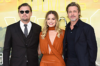 "Leonardo DiCaprio, Margot Robbie and Brad Pitt<br /> arriving for the ""Once Upon a Time... in Hollywood"" premiere, Leicester Square, London<br /> <br /> ©Ash Knotek  D3514  30/07/2019"