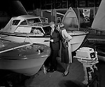 Pittsburgh PA - On location photography for Wasey Ruthranff & Ryan Advertising of a family looking for a motor boat - 1962.