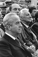 France, Brest. Inauguration du porte-avions Charles de Gaulle, Jacques Chirac et Edouard Balladur, Premier Ministre. 7 mai 1994 - ©Jean-Claude Coutausse / french-politics