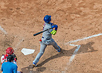 29 April 2017: New York Mets infielder Jose Reyes hits a solo home run in the 9th inning against the Washington Nationals at Nationals Park in Washington, DC. The Mets defeated the Nationals 5-3 to take the second game of their 3-game weekend series. Mandatory Credit: Ed Wolfstein Photo *** RAW (NEF) Image File Available ***