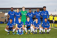 Chelsea pre match team photo (back row l-r) Joseph Colley, Harvey St Clair, Goalkeeper Jamie Cumming, Redan Daishawn, Marc Guehi & Jonathan Panzo (front row l-r) Juan Familio-Castillo, Luke McCormick, Conor Gallagher, George McEachran & Cole DaSilva ahead of the UEFA Youth League group match between Chelsea and Atletico Madrid Juvenil A at the Chelsea Training Ground, Cobham, England on 5 December 2017. Photo by Andy Rowland.