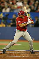 March 7, 2009:  Third baseman Mark Teahen (24) of Canada during the first round of the World Baseball Classic at the Rogers Centre in Toronto, Ontario, Canada.  Team USA defeated Canada 6-5 in both teams opening game of the tournament.  Photo by:  Mike Janes/Four Seam Images
