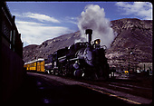 D&amp;RGW #476 K-28 and excursion coaches at Durango station.<br /> D&amp;RGW  Durango, CO