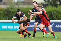 Ben Mosses of London Scottish during the Greene King IPA Championship match between London Scottish Football Club and Hartpury RFC at Richmond Athletic Ground, Richmond, United Kingdom on 28 October 2017. Photo by David Horn.