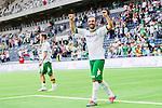 Stockholm 2014-06-08 Fotboll Superettan Hammarby IF - Landskrona BoIS  :  <br /> Hammarbys Kennedy Bakircioglu jublar efter matchen<br /> (Foto: Kenta J&ouml;nsson) Nyckelord:  Superettan Tele2 Arena Hammarby HIF Bajen Landskrona BoIS jubel gl&auml;dje lycka glad happy