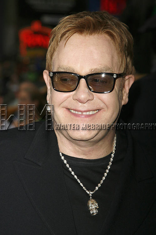 Elton John attending the Opening Night of Warner Bros. Theatre Ventures' Inaugural production of LESTAT at the Palace Theatre with an after party at Time Warner Center in New York City. April 25, 2006.© Walter McBride/WM Photography