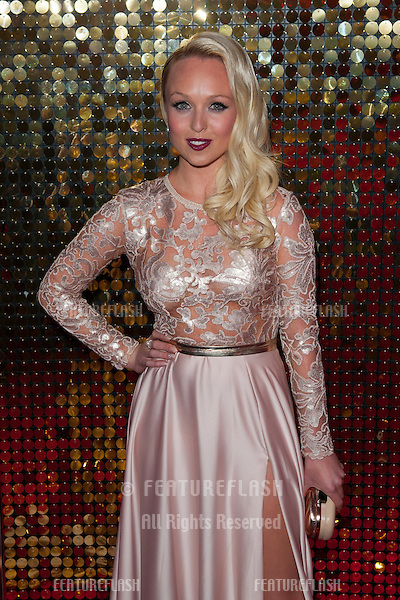 Jorgie Porter arriving for the 2014 British Soap Awards, at the Hackney Empire, London. 24/05/2014 Picture by: Dave Norton / Featureflash