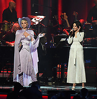 LOS ANGELES, CA - FEBRUARY 8: Katy Perry and Casey Musgraves perform on the 2019 MusiCares Person of the Year Tribute Honoring Dolly Parton at the Los Angeles Convention Center on February 8, 2019 in Los Angeles, California. (Photo by Frank Micelotta/PictureGroup)