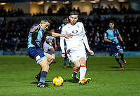 Luke O'Nien of Wycombe Wanderers during the Sky Bet League 2 match between Wycombe Wanderers and Luton Town at Adams Park, High Wycombe, England on the 21st January 2017. Photo by Liam McAvoy.
