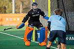 BLOEMENDAAL  -  keeper Flip Wijsman, , competitiewedstrijd junioren  landelijk  Bloemendaal JA1-Nijmegen JA1 (2-2) . COPYRIGHT KOEN SUYK