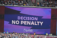 Video Assistance being used  during West Ham United vs Manchester City, Premier League Football at The London Stadium on 10th August 2019