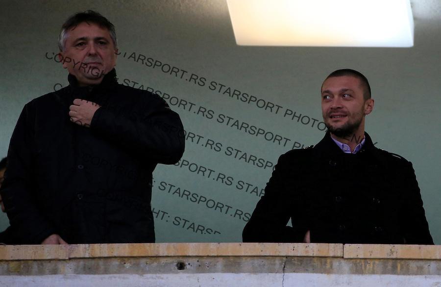 Fudbal Jelen Super League season 2015-2016<br /> Partizan v Novi Pazar<br /> Zoran Popovic (L) and Ivica Ilijev<br /> Beograd, 21.11.2015.<br /> foto: Srdjan Stevanovic/Starsportphoto&copy;
