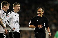 Referee, Keith Stroud seen during the Sky Bet Championship match between Fulham and Sheff United at Craven Cottage, London, England on 6 March 2018. Photo by Carlton Myrie.