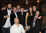 "Back L to R: author Samuel Brett Williams, Jared Culverhouse (cast), Anthony Sweeney (Exec Prod. L), Malcolm Madera, Beth Wittig & ATWT Jake Silbermann (cast) and Michole Biancosino (director) and Liam Joynt (producer - front) on Opening Night on December 2, 2011 - New York, NY – The Camisade Theatre Company proudly presents their inaugural theatrical production, the World Premiere of ""Derby Day"" starring Jake Silbermann (ATWT), Malcolm Madera (AMC & GL), Jared Culverhouse and Beth Wittig. Derby Day runs from November 30 to December 17, 2011 in a limited engagement at The Clurman Theatre, located in the Theatre Row Complex at 410 West 42nd Street between 9th and 10th Avenues in New York City, New York.  Camisade Theatre Company is founded by Jake Silbermann, Malcolm Madera and Samuel Brett Williams. (Photo by Sue Coflin/Max Photos)"