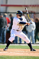 February 20, 2009:  Second baseman Kevin Cislo (19) of the University of Michigan during the Big East-Big Ten Challenge at Jack Russell Stadium in Clearwater, FL.  Photo by:  Mike Janes/Four Seam Images
